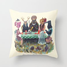 The Art of ruining conversation at dinner parties Throw Pillow