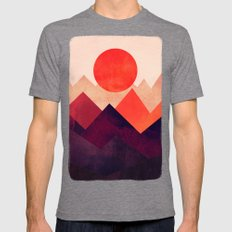 Touched By The Sun Mens Fitted Tee Tri-Grey SMALL