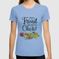 What A Friend We Have In… Womens Fitted Tee Athletic Blue SMALL