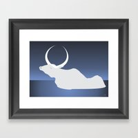 the moon landed softly on her head and stayed there...  Framed Art Print