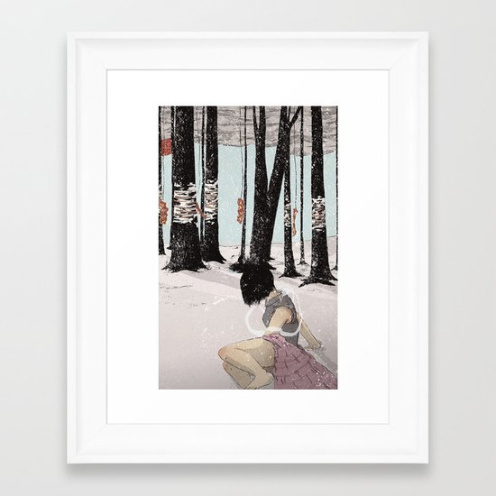 With My Hands In Sand Framed Art Print