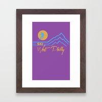 Ski West Philly Framed Art Print