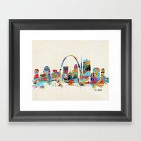 saint louis missouri skyline Framed Art Print