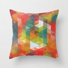 Transparent Cubism Throw Pillow