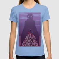 Stand Your Ground  Womens Fitted Tee Athletic Blue SMALL