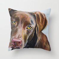 I Would Rather Be Playin… Throw Pillow