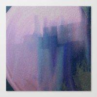 Big Blue City Canvas Print