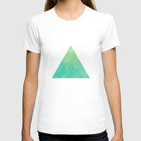 A Q U A Womens Fitted Tee White SMALL