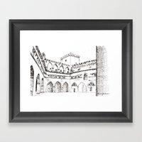 the rain court Framed Art Print