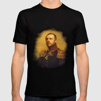 Simon Pegg - replaceface Mens Fitted Tee Black SMALL