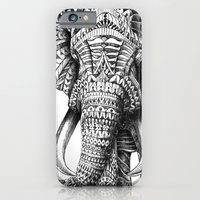 girls iPhone & iPod Cases featuring Ornate Elephant by BIOWORKZ