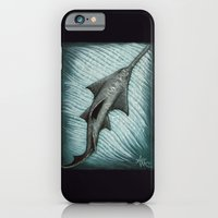 iPhone Cases featuring Sawfish - Acrylic Painting by Amber Marine
