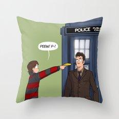 Villengard Surprise - Doctor Who Throw Pillow