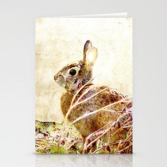 Spring Bunny Stationery Card