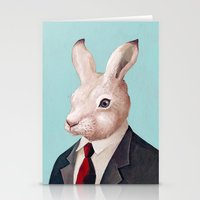 rabbit Stationery Cards featuring Rabbit by Animal Crew