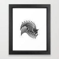 Zebra Sonnet Framed Art Print