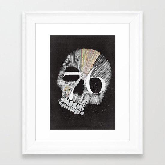 Skulltones Framed Art Print