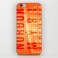 Nordurmyri Orange iPhone & iPod Skin