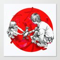 Japanese flag Canvas Print