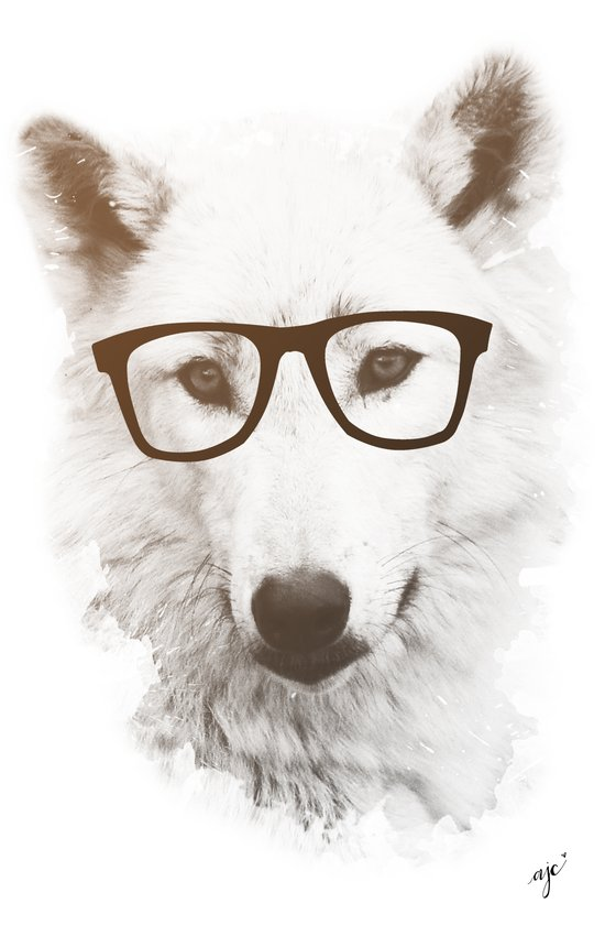 SMART WOLF Canvas Print