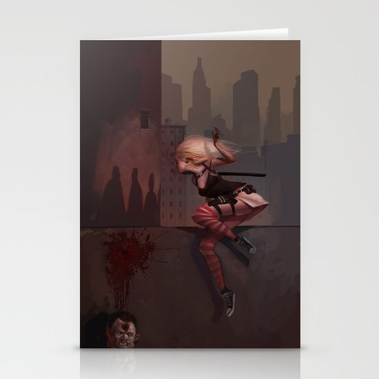 Bambi the Zombie Slayer Stationery Card