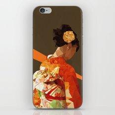 Polygonal kimono girl iPhone & iPod Skin