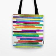 Colorful Stripes 1 Tote Bag