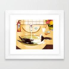 Relaxed Rabbit Framed Art Print