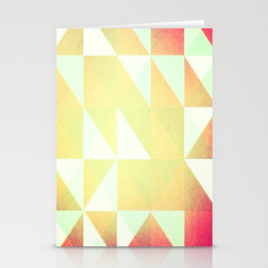 Abstract Print Stationery Card