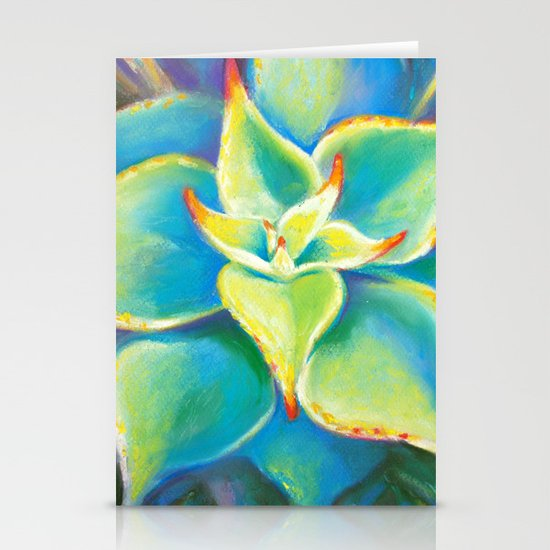 Succulent  Flower Stationery Card