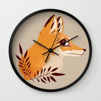 Fox Familiar Wall Clock