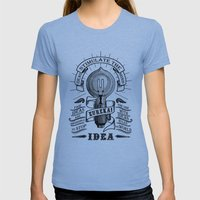 Idea Womens Fitted Tee Athletic Blue SMALL