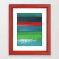 Colors I Framed Art Print
