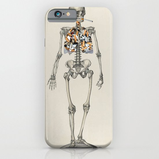 Skeletons Smoking iPhone & iPod Case