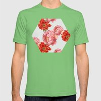 vintage floral Mens Fitted Tee Grass SMALL