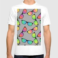 Sunglasses Pattern Mens Fitted Tee White SMALL