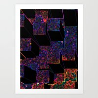 Electric Cubes  Art Print