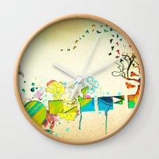 I Heart Life Wall Clock