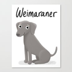 Weimaraner - Cute Dog Series Canvas Print