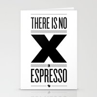 No X in Espresso – Black Stationery Cards