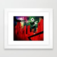 The Lit Cube Framed Art Print
