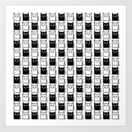 A Chess Of Cats Art Print