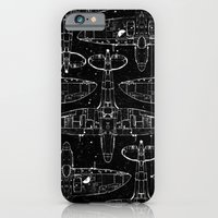 iPhone & iPod Case featuring Spitfire Mk. XIV (white) by One Curious Chip