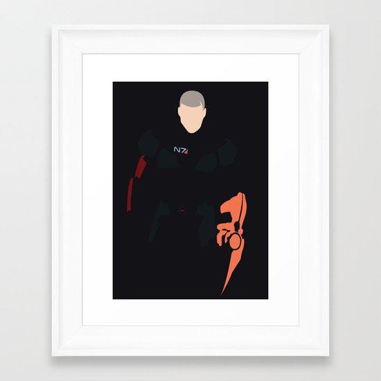 Mass Effect - Male Shepard Framed Art Print