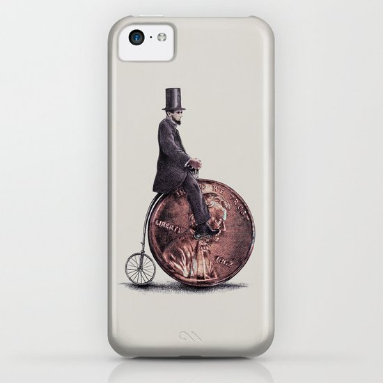 Penny Farthing (grey option) iPhone & iPod Case