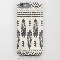 Tribal Feathers-Black & … iPhone 6 Slim Case