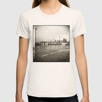 { rain dance } Womens Fitted Tee Natural SMALL