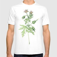 Flowers For Dad Mens Fitted Tee White SMALL