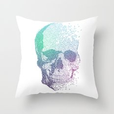 Music Skull Throw Pillow