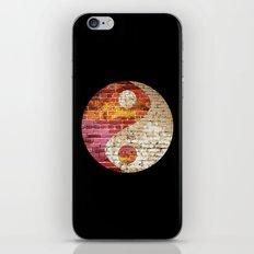 Brick Yin Yang iPhone & iPod Skin